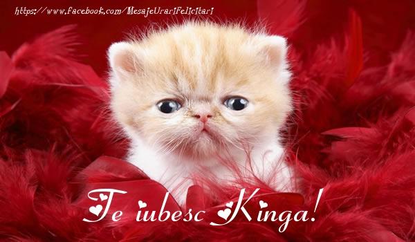 Felicitari de dragoste - Te iubesc Kinga!