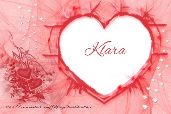 Felicitari de dragoste - Love Klara