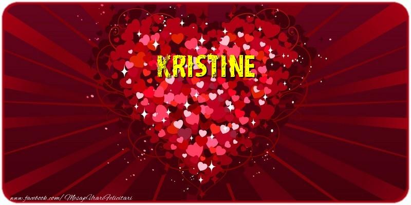 Felicitari de dragoste - Kristine