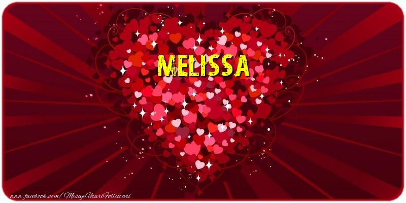 Felicitari de dragoste - Melissa