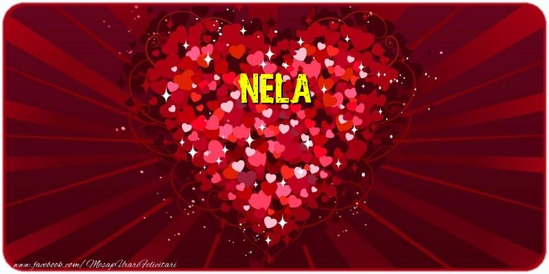 Felicitari de dragoste - Nela
