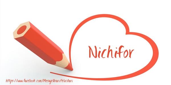 Felicitari de dragoste - Te iubesc Nichifor