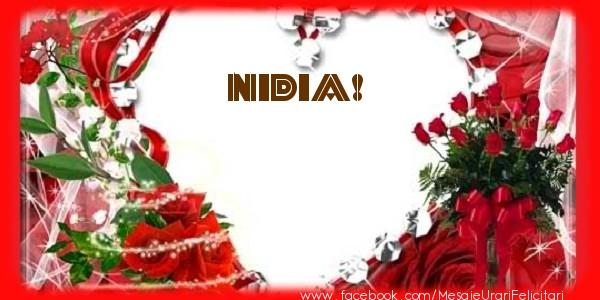 Felicitari de dragoste - Love Nidia!