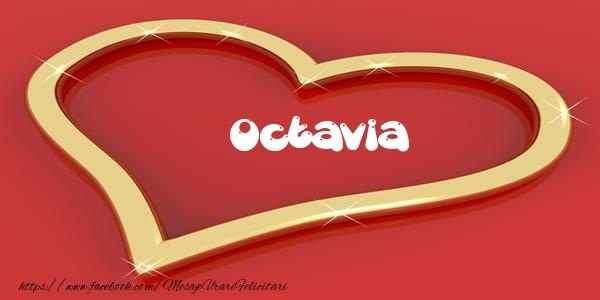 Felicitari de dragoste - Octavia Iti dau inima mea