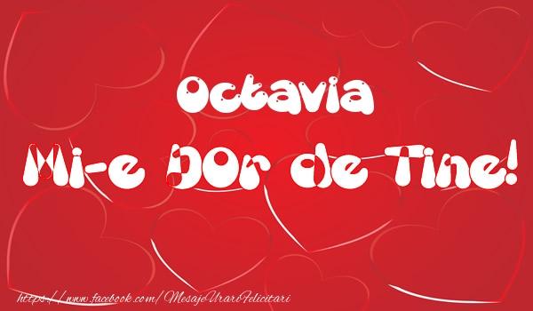 Felicitari de dragoste - Octavia mi-e dor de tine!