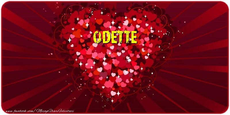 Felicitari de dragoste - Odette