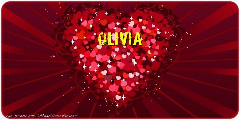 Felicitari de dragoste - Olivia