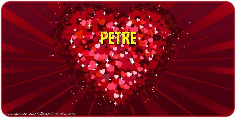 Felicitari de dragoste - Petre