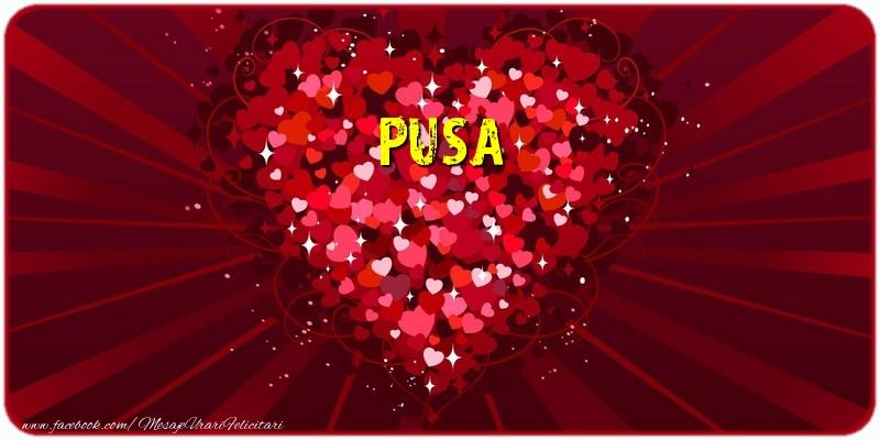 Felicitari de dragoste - Pusa