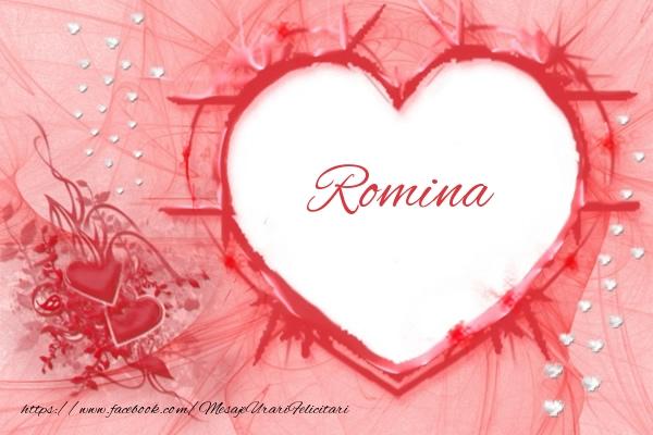 Felicitari de dragoste - Love Romina