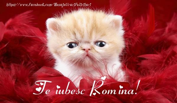 Felicitari de dragoste - Te iubesc Romina!