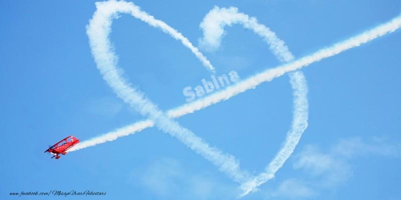 Felicitari de dragoste - Sabina