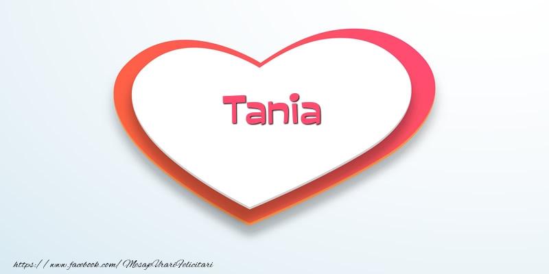 Felicitari de dragoste - Love Tania
