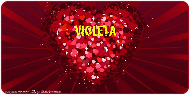 Felicitari de dragoste - Violeta