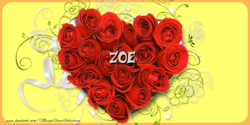 Felicitari de dragoste - Zoe