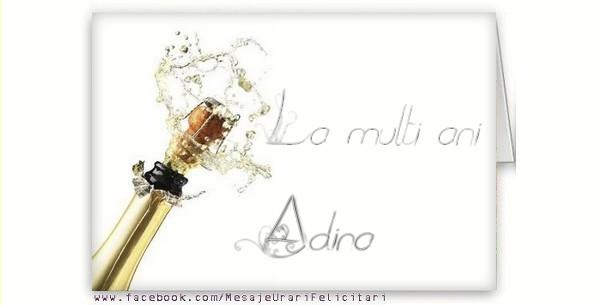 Felicitari de la multi ani - La multi ani, Adina