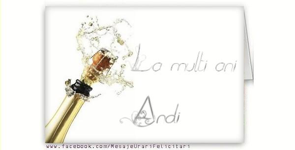 Felicitari de la multi ani - La multi ani, Andi