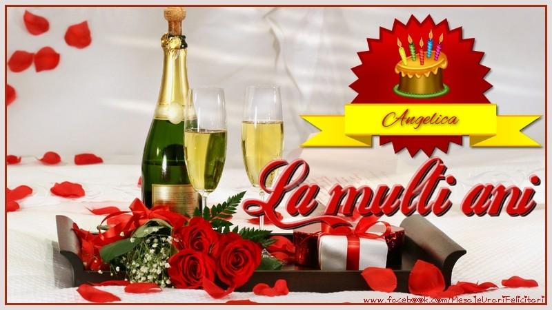Felicitari de la multi ani - La multi ani, Angelica