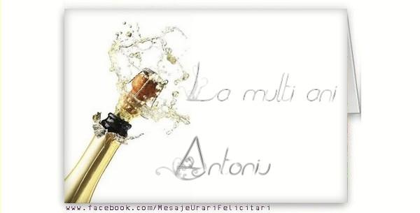 Felicitari de la multi ani - La multi ani, Antoniu