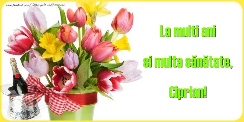 Felicitari de la multi ani - La multi ani si multa sănătate, Ciprian