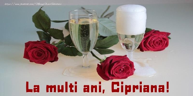 Felicitari de la multi ani - La multi ani, Cipriana!