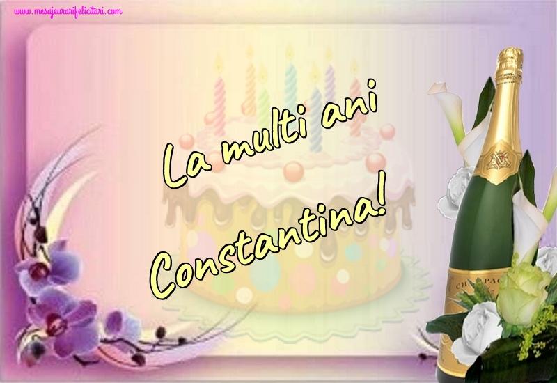 Felicitari de la multi ani - La multi ani Constantina!