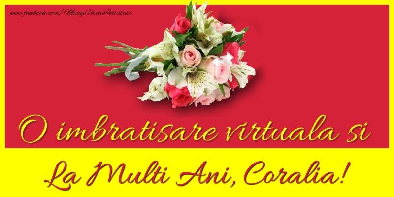 Felicitari de la multi ani - O imbratisare virtuala si la multi ani, Coralia