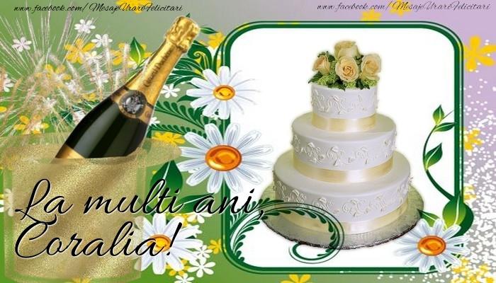 Felicitari de la multi ani - La multi ani, Coralia