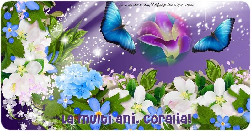Felicitari de la multi ani - La multi ani Coralia,