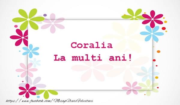 Felicitari de la multi ani - Coralia La multi ani