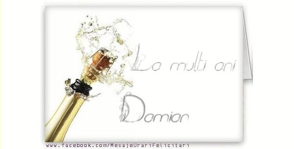 Felicitari de la multi ani - La multi ani, Damian