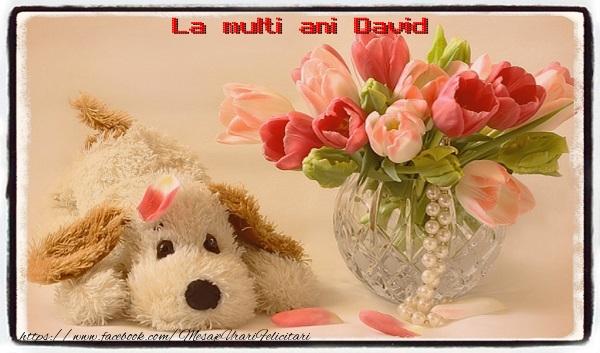 Felicitari de la multi ani - La multi ani David