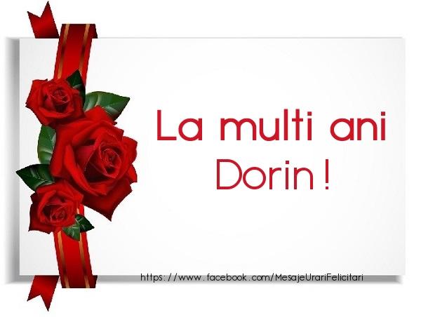 Felicitari de la multi ani - La multi ani Dorin