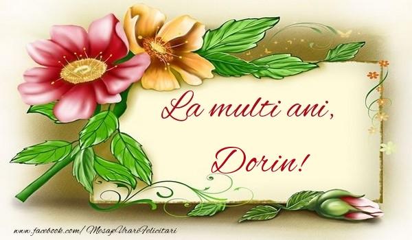 Felicitari de la multi ani - La multi ani, Dorin