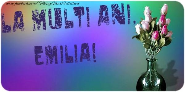 Felicitari de la multi ani - La multi ani, Emilia