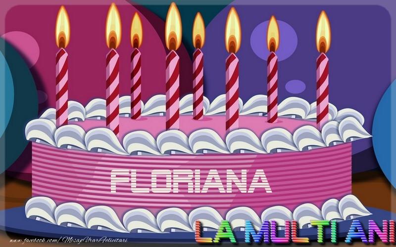 Felicitari de la multi ani - La multi ani, Floriana