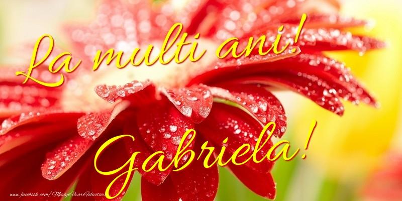 Felicitari de la multi ani - La multi ani! Gabriela
