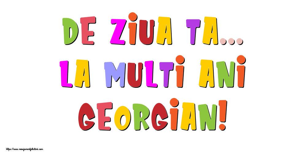 Felicitari de la multi ani - De ziua ta... La multi ani, Georgian!