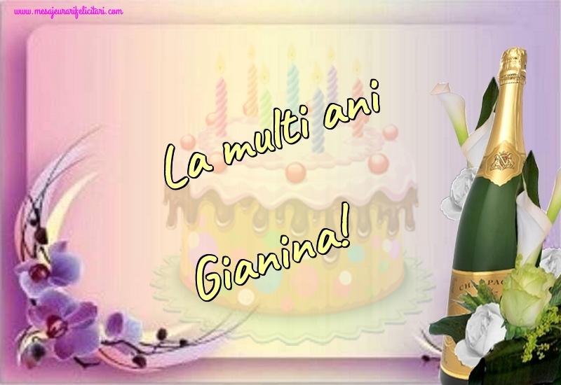 Felicitari de la multi ani - La multi ani Gianina!