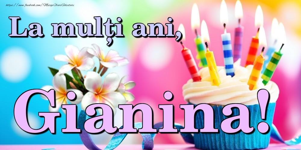 Felicitari de la multi ani - La mulți ani, Gianina!