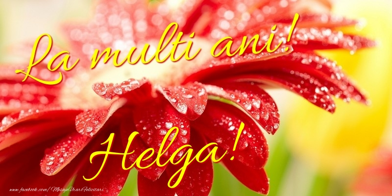 Felicitari de la multi ani - La multi ani! Helga