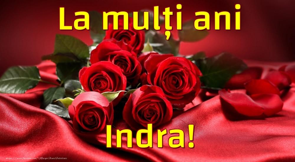Felicitari de la multi ani - La mulți ani Indra!