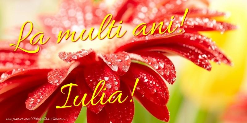 Felicitari de la multi ani - La multi ani! Iulia
