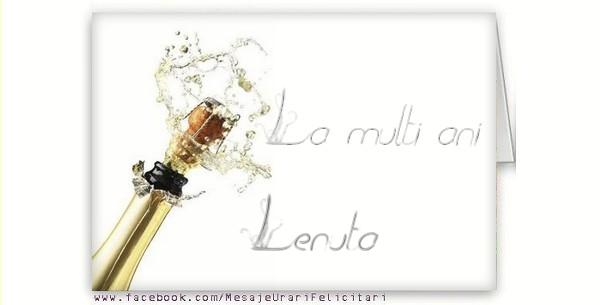 Felicitari de la multi ani - La multi ani, Lenuta