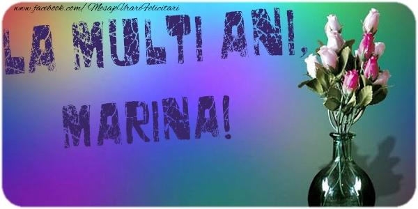 Felicitari de la multi ani - La multi ani, Marina