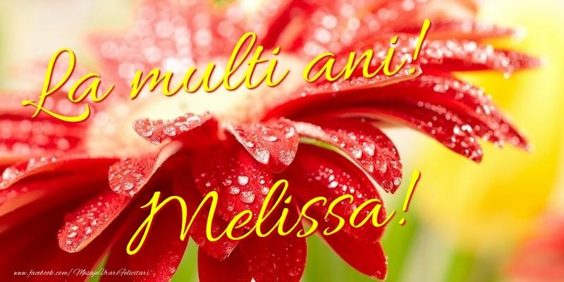 Felicitari de la multi ani - La multi ani! Melissa