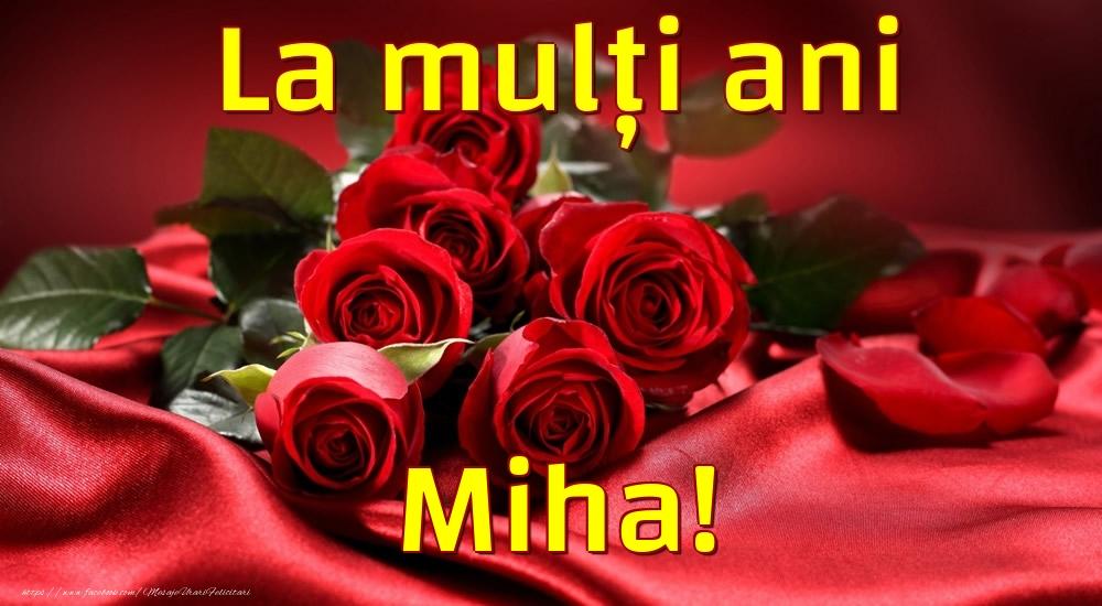Felicitari de la multi ani - La mulți ani Miha!