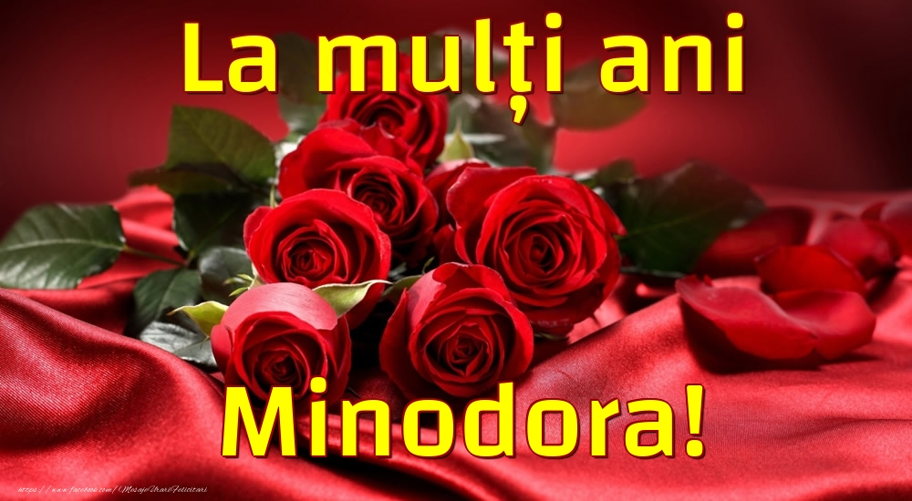 Felicitari de la multi ani - La mulți ani Minodora!