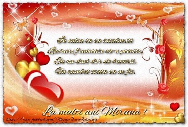 Felicitari de la multi ani - La multi ani Miruna