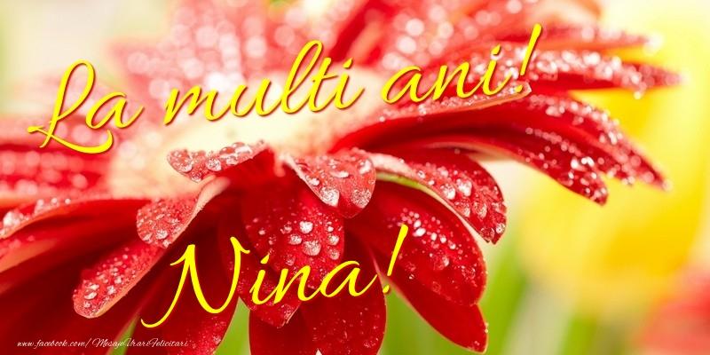 Felicitari de la multi ani - La multi ani! Nina